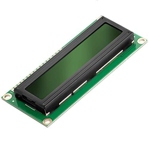 AZDelivery HD44780 1602 LCD module affichage vert 2x16 caractères de couleur noire incluant un Ebook!