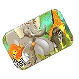 non-brand Juegos de 60 Piezas Puzzles de Madera Aprendizaje Temprano Montessori para Niños 3 -6 Años Multicolor - Animales de la Selva
