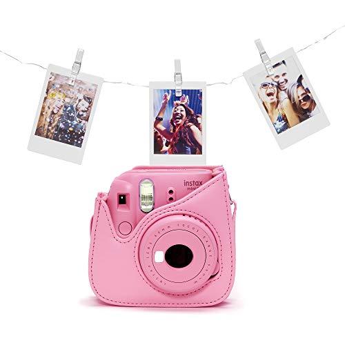 Fujifilm Instax Mini 9 - Cámara instantánea con películas, flamenco rosa