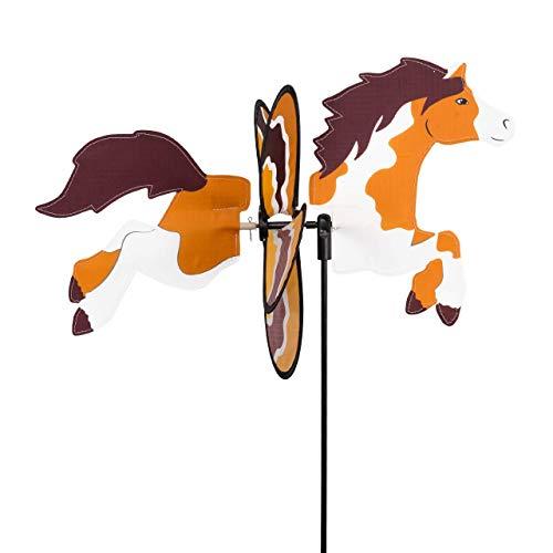 CIM Windspiel - Petite 2in1 PONY - Windrad Ø28x43x85cm - Windmühle mit Standstab oder Mobile mit Hängeset