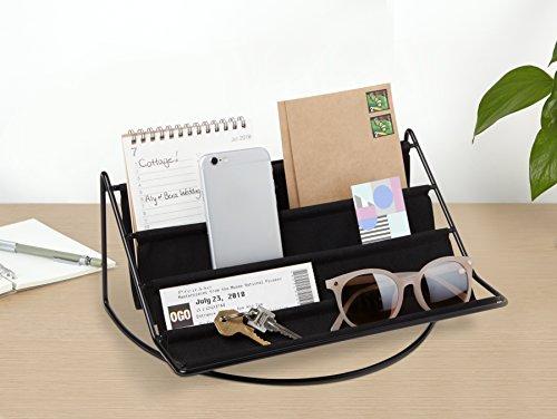 Umbra Hammock Accessoire Organizer - Ablage für Schlüssel, Sonnenbrillen, Lesebrillen, Handys, Briefe und Mehr, Schwarz, Gross