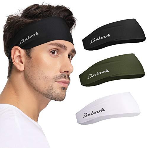 Fascia per capelli per uomini e donne, per sport atletici, fascia per il sudore dei capelli sottili per allenamento pallacanestro esercizio palestra ciclismo calcio tennis yoga crossfit fitness