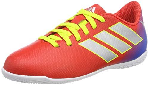 Adidas Nemeziz Messi 18.4 in J, Zapatillas de Fútbol, Rojo (Active Red/Silber/Foil/Football Blue Active Red/Silber/Foil/Football Blue), 28 EU