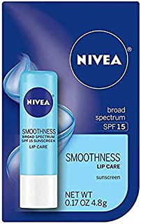 NIVEA a Kiss of Smoothness Hydrating Lip Care SPF 15, 0.17 oz (Pack of 2)