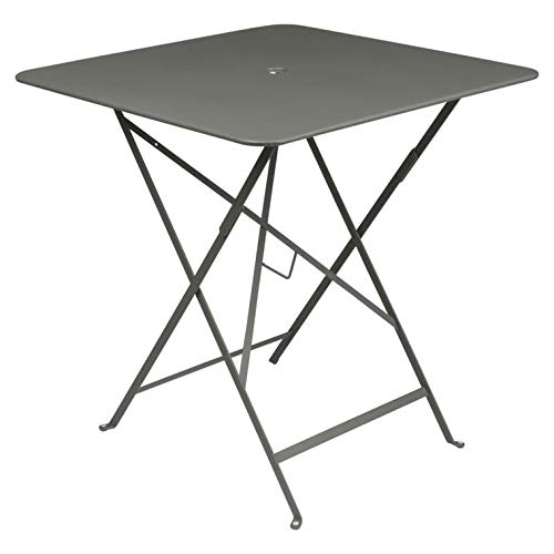 Fermob Bistro-Tisch, zusammenklappbar, quadratisch, 71 x 71 cm, Stahlgestell, Rosmaringrün