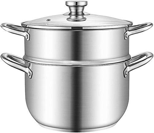 Vaporizador de vaporizador de vaporizador de vaporizador de vaporizador de vapor de vapor de vapor de vapor con asas en ambos lados utensilios de cocina con tapa para la cocina de doble capa 22 cm