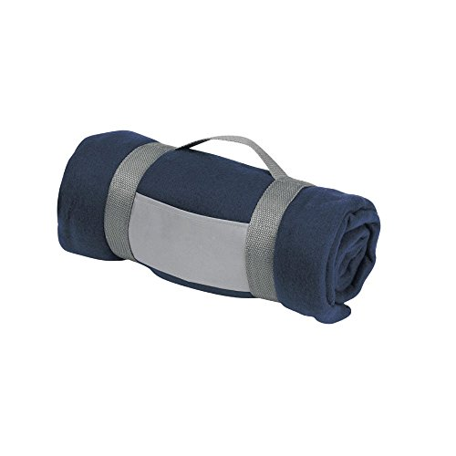 eBuyGB Luxuriöser Warmer Überwurf für Sofa, Bett, Festival, Camping, Picknick, Teppich, Pub, Bar, Outdoor, Sitzen, Marineblau, Einheitsgröße