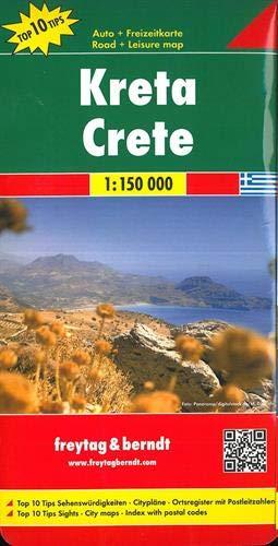 F&B Kreta: Toeristische wegenkaart 1:150 000