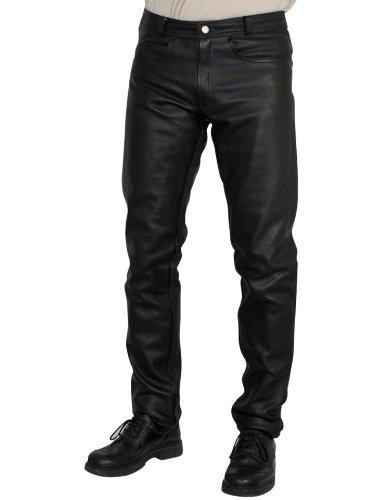 Roleff Pantalón de cuero auténtico estilo racewear