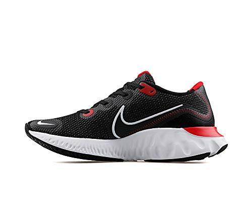 Nike Herren Renew Run Leichtathletik-Schuh, Black/White-University Red, 45 EU