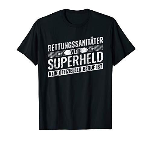 Top Rettungs-Sanitäter Geschenk Superheld Notfall T-Shirt