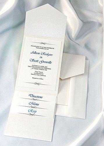 All-in-One Pocket Invitation Kit - White Elegance - Pack of 20