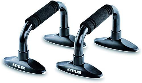 Kettler Liegestützgriffe - zwei Griffe für Liegestütze - gelenkschonende Push-up-Griffe für gesunde Übungen - schwarz