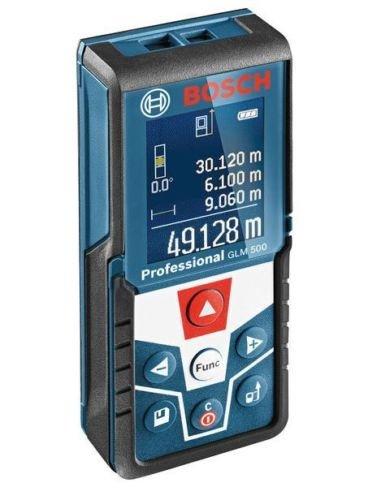 Bosch GLM 500 - Medidor de distancia láser (50 m, pantalla retroiluminada)