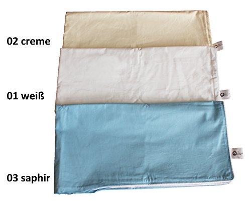 Bettenhaus Sachse Kopfkissen Hülle/Inlett zum Selbstbefüllen, Deutsche Qualität fein - Farbe 02 Creme, 80 x 80 cm
