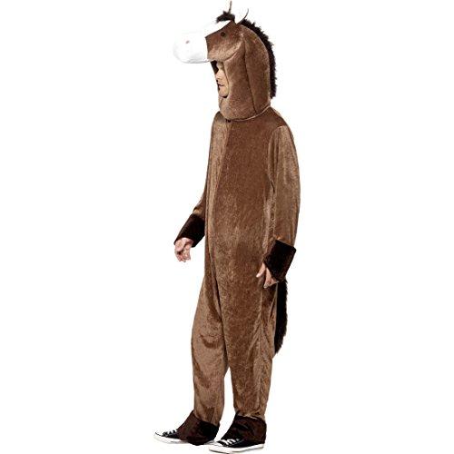 Amakando Pferd Kostüm Ganzkörper Pferdkostüm Pferde Tierkostüm Pferdekostüm Karnevalskostüme Tier Lustiges Faschingskostüm Plüsch Esel Plüschkostüm