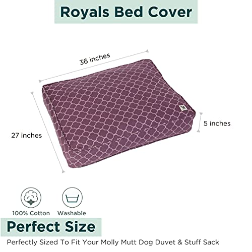 Molly Mutt Large Dog Bed Cover - Med Dog Bed Cover - Dog Calming Bed - Puppy Bed - Pet Bed - Large Dog Bed Cover - Washable Dogs Bed Cover - Pet Bed with Removable Cover - Dog Bed Covers, Royals, Medium/Large (dd54b)
