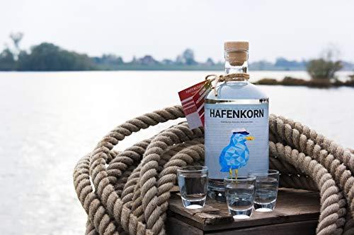 HAFENKORN, klarer Korn Schnaps aus 100% norddeutschem Weizen, frischer Hamburger Kornbrand, pur oder für Kornmischung, Hamburg Geschenk, 1 x 0,7 L - 4