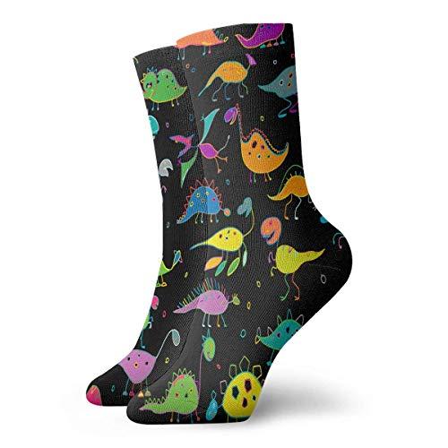 Bert-Collins Hombres y mujeres dinosaurios divertidos estilo infantil calcetines atléticos lindos calcetines largos clásicos