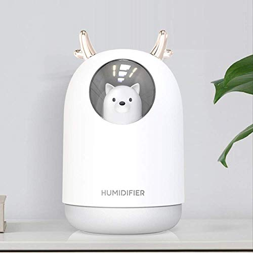 300ml Cute Pet bag Mini USB Ultrasonic Aromatherapy Humidifier Air Essential Oil Aroma Diffuser with 7 Colors Light Mist Maker