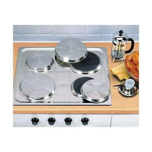4PC GAS STAINLESS STEEL HOB COVER ELECTRIC HOBS OVEN HOME COVERS HOBS PROTECTOR