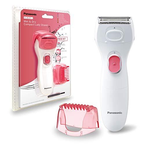 Panasonic ES-WL50-P503 - Afeitadora Femenina Eléctrica Wet&Dry Zonas Sensibles, Rasuradora de Precisión (Ingles, Cejas, Facial y Axilas, Compacta, Lavable, Precisión y Suavidad), Blanco
