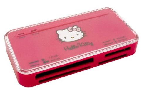 Blue Stork Hello Kitty Card Reader 53 in 1 Lettore Multi Schede, Rosa