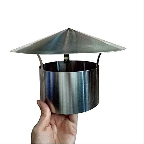 LTLGHY Sombrero Extractor, Acero Inoxidable Gorro De Chimenea Cubierta De Chimenea para Estufa Base Redonda Sombrero De Chimenea para Todos Los Sistemas De Ventilación,120MM