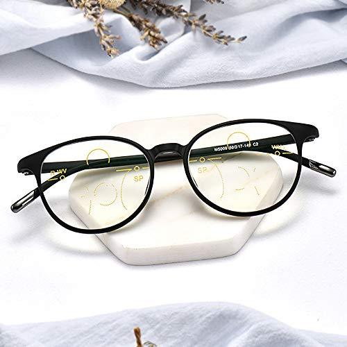 WZYX Ultraleichte Lesebrillen Frauen Und Männer Blaulichtfilter Arbeitsplatzbrille Bifokal Schwarze Brille Mit Gleitsichtbrille