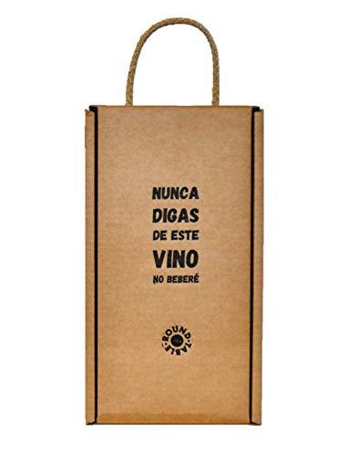 Round Table | Estuche regalo vino con juego 'yo nunca' | Nunca digas de este vino no beberé | 2 botellas de 75 cl