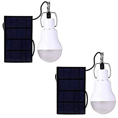 Portable Solar LED Bulb Lights Solar Powered Chicken Coops Light with 3.5M Solar Panel for Camping Tent Fishing Hiking Chicken Coop Shed Lighting