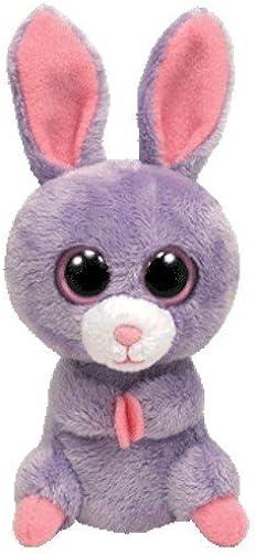 Ty Basket Beanie Petunia - Conejo de peluche, Color morado
