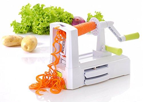 Ewei's Homeware Spiral Vegetable Slicer,Zucchini Spaghetti Pasta Noodle Maker, Quickly Spiral Slice Vegetables into Healthy Veggie Pasta
