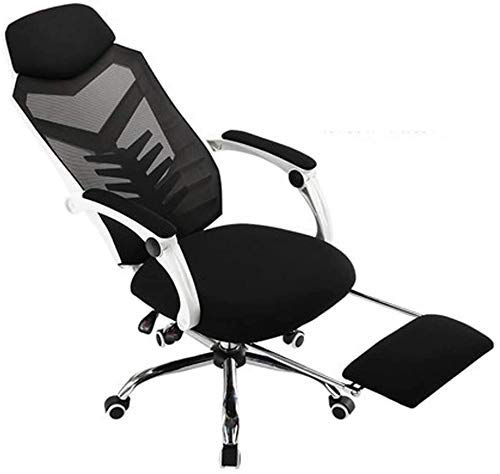 WSDSX Office Chairs Gaming Chair with Retractible Footrest,Ergonomic Office Chair High Back Swivel Mesh Racing Chair with Lumbar Support Headrest Adjustable Executive Computer Chair (Col