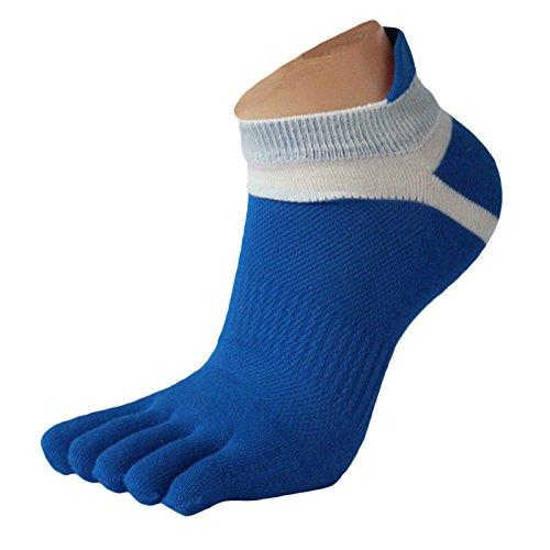 URIBAKY - Calcetines de running de cinco dedos para hombre, calcetines de algodón, multicolor, a, Talla única