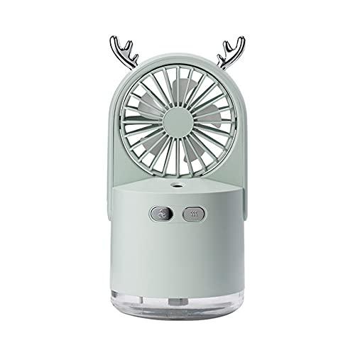 LLSL Ventilatore di Aria condizionata Portatile, condizionatore d'Aria Personale con Luce a LED, 3 velocità e 2 modalità di nebulizzazione umidificatore, per Viaggi/Camera/Ufficio/casa,Grigio