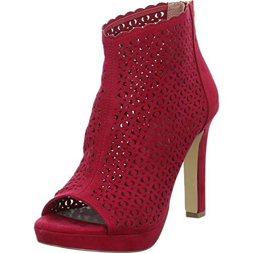TAMARIS Damen 1-1-28381-24 515 Sandale mit Absatz, Rot, 36 M EU