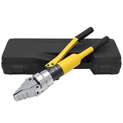 Huanyu Flanschspreizer 12T Hydraulikspreizer Integraler Hydraulischer Spreizzange mit Max. Spreizweite 55mm (Gelb)