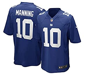 Eli Manning New York Giants #10 Youth Player Name & Number Game Team Jersey Blue (X-Large 18/20)
