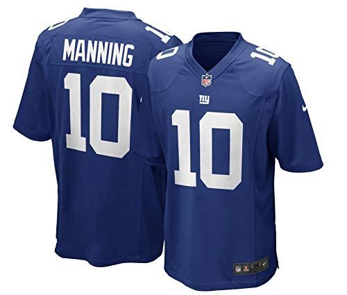 Outerstuff Eli Manning New York Giants Youth Blue Jersey Medium 10/12