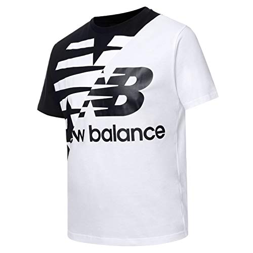 New Balance Athletics Splice, Camiseta, Black-White, Talla L