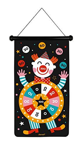 Janod- Circo Juego De Dardos Magnéticos, Multicolor (J02074)