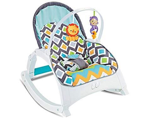 Hamaca Bebe azul, mecedora bebe multifuncion, con musica vibraciones y arco de juguetes