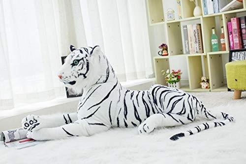 KXCAQ 30-120 CM Gigante Tigre Blanco de Peluche de Juguete bebé Encantador tamaño Grande Tigre muñeco de Peluche Almohada niños 120 cm Blanco