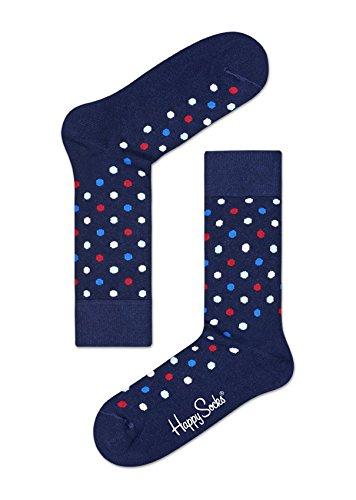 Happy Socks DOT Sock Calze, Multicolore (Multicolour 600), 7/10 (Taglia Unica: 41-46) (Pacco da 6) Uomo