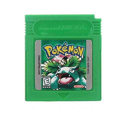 Pokemon Video Games Green Gameboy Color GBC Reproduction Video Game Cartridge