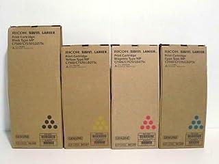 Genuine Ricoh Lanier Savin C7500 C7570 LD275c Toner Bundle Set BCYM 841288, 841289, 841290,841291 Sealed In Retail Packaging