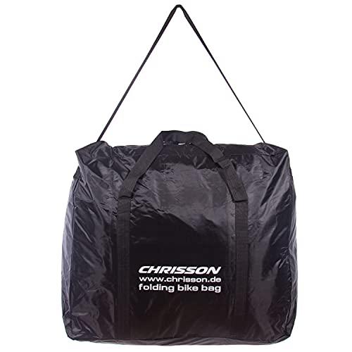 CHRISSON Faltrad Transporttasche, Bequeme Klapprad Tragetasche, wasserdichte Fahrrad Reisetasche für Falträder von 14 bis 20 Zoll
