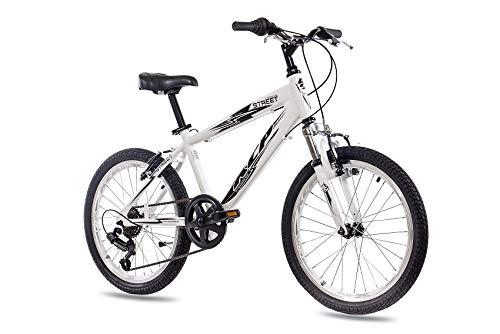 '20pulgadas aluminio Mountain Bike Bicicleta infantil KCP Street con 6velocidades Shimano Blanco