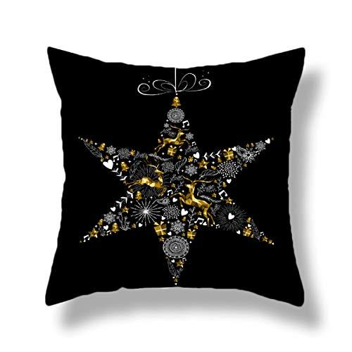 Snowflake Decoration Pillowcase Christmas Letter Backrest Cover Thick Velvet Cushion Pillowcase Office Home Sofa Cushion Pillowcase